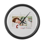 Christmas Gift Dreams Large Wall Clock