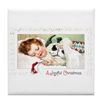 Christmas Gift Dreams Tile Coaster