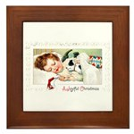 Christmas Gift Dreams Framed Tile