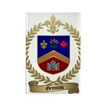 GRONDIN Family Crest Rectangle Magnet