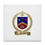 GRONDIN Family Crest Tile Coaster