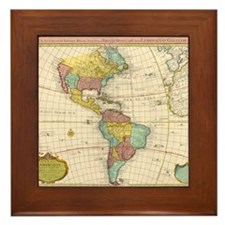 Cute Globe Framed Tile
