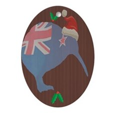 Christmas Kiwi Oval Ornament