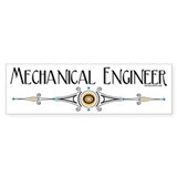 Mechanical Engineer Line Bumper Sticker (10 pk)