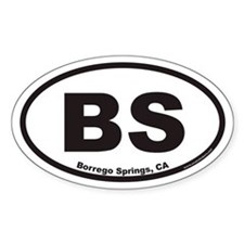 BS Borrego Springs Euro Oval Decal