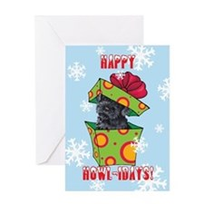 Holiday Kerry Blue Greeting Card