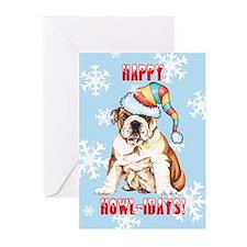 Holiday Bulldog Greeting Cards (Pk of 10)