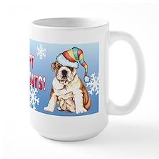 Holiday Bulldog Mug
