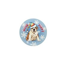 Holiday Bulldog Mini Button