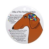 Weiner Brain (red) Ornament (Round)