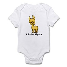A is for Alpaca Infant Bodysuit