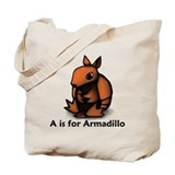 A is for Armadillo Tote Bag