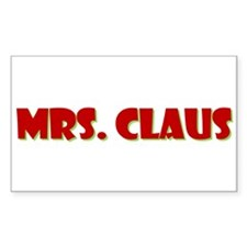Mrs. Claus Rectangle Decal