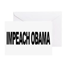 Impeach Obama (L) Greeting Card