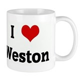 I Love Weston Small Mug