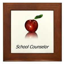 School Counselor Framed Tile