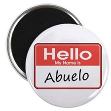 "Hello, My Name is Abuelo 2.25"" Magnet (10 pack)"