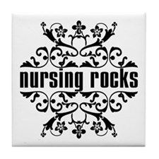 Nursing Rocks Tile Coaster
