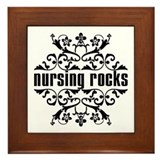 Nursing Rocks Framed Tile
