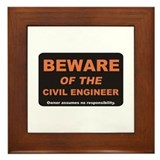 Beware / Civil Engineer Framed Tile
