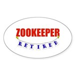Retired Zookeeper Oval Sticker (50 pk)