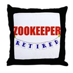 Retired Zookeeper Throw Pillow