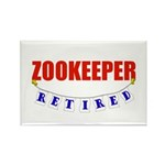 Retired Zookeeper Rectangle Magnet (100 pack)