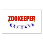 Retired Zookeeper Rectangle Sticker