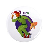 "Elfis Elvis Presley Christmas 3.5"" Button"