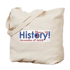 History Obama Wins '08 Tote Bag