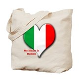 My Heart is Italian Tote Bag
