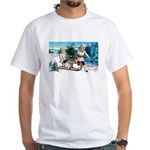 Christmas Tree Children (Front) White T-Shirt