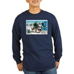 Christmas Tree Children (Front) Long Sleeve Dark T