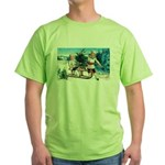 Christmas Tree Children (Front) Green T-Shirt