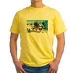Christmas Tree Children (Front) Yellow T-Shirt