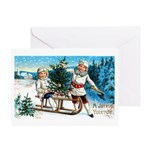 Christmas Tree Children Greeting Card