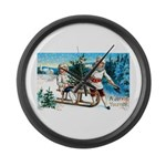 Christmas Tree Children Large Wall Clock
