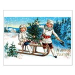 Christmas Tree Children Small Poster
