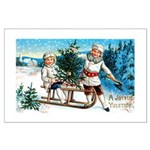 Christmas Tree Children Large Poster