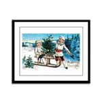 Christmas Tree Children Framed Panel Print