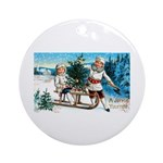 Christmas Tree Children Ornament (Round)