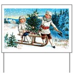 Christmas Tree Children Yard Sign
