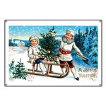 Christmas Tree Children Banner