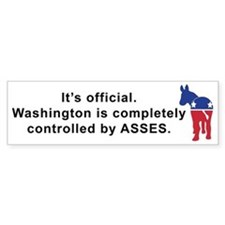 Washington Asses Bumper Bumper Sticker