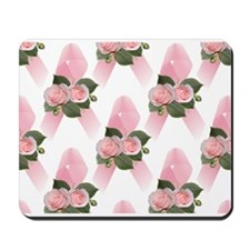 Breast Cancer Ribbon & Roses Mousepad