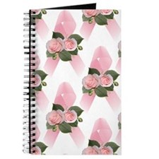 Breast Cancer Ribbon & Roses Journal