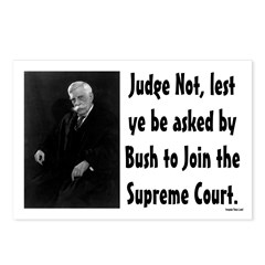 Eight Judge Not judicial postcards