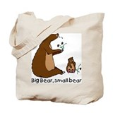 Big Bear, Small Bear Tote Bag