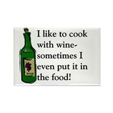 I Like To Cook With Wine Rectangle Magnet