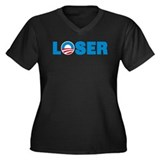 Anti obama Women's Plus Size V-Neck Dark T-Shirt